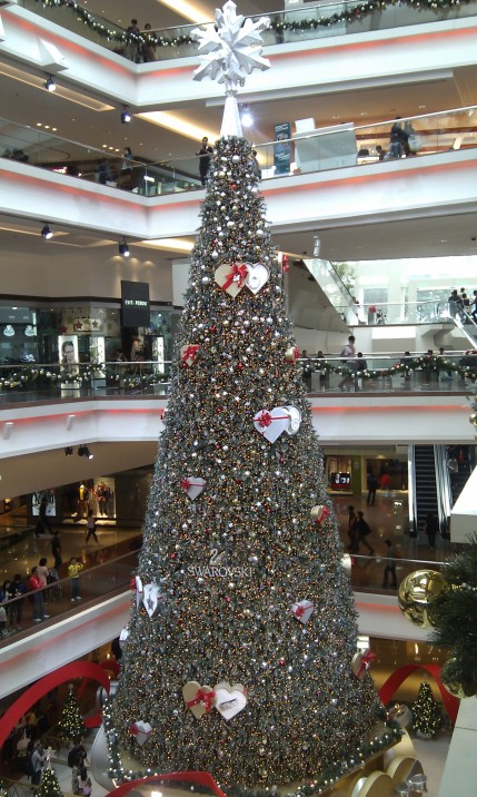 Christmas tree in Festival Walk, Hong Kong