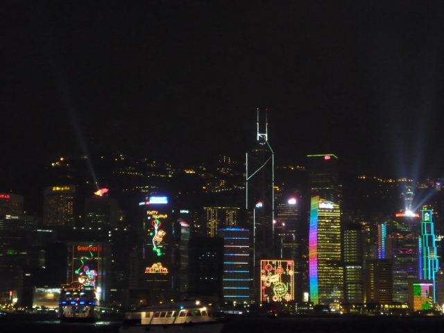 Christmas lights, Hong Kong island