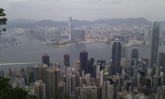 Hong Kong view from Lugard Road