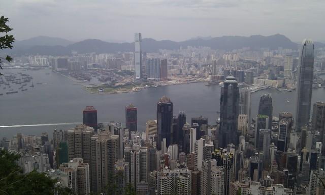 Hong Kong view from Lugard Road