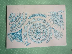 Henna inspired pattern