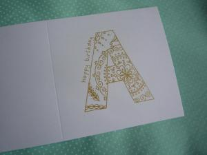 Patterned letter handmade card
