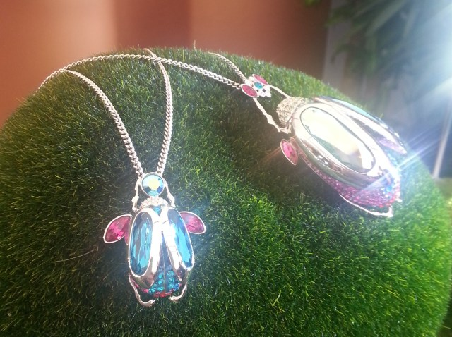Beetle necklaces Swarovski 2013