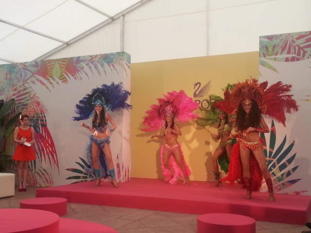 Brazilian dancers at Swarovski launch Hong Kong