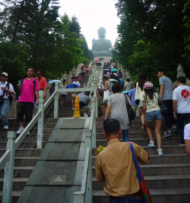 Steps up to the Big Buddha