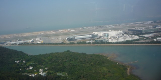 Hong Kong airport from the cable car