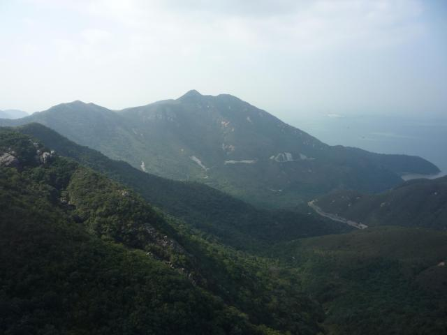 Lantau hills from the cable car
