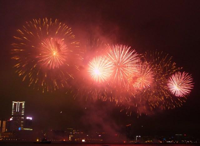 Hong Kong Chinese New Year fireworks