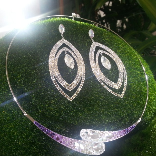 Purple Swarovski crystal necklace 2013