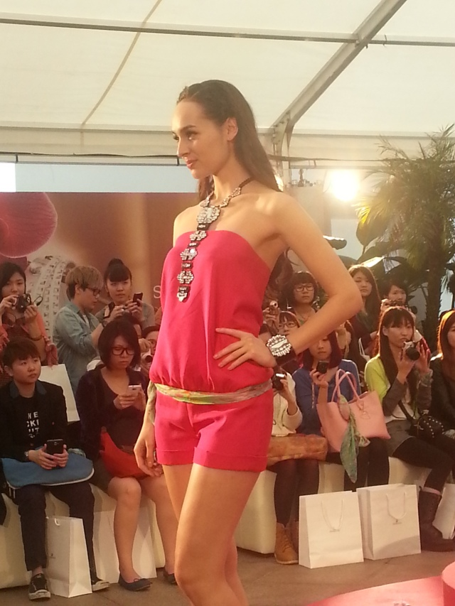 Runway show at Swarovski launch