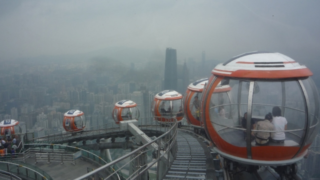 Canton Tower bubble car ride
