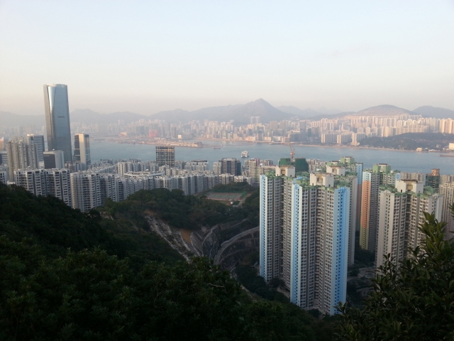 Quarry Bay from Hong Pak country trail