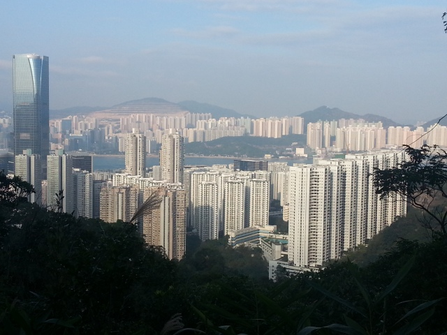 Quarry bay from Hong Pak walk
