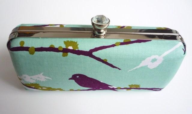 Covered box clutch purse