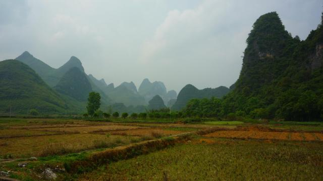 Fields and hills of Yangshuo