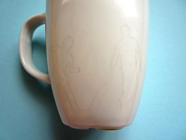 decorating mugs traced image