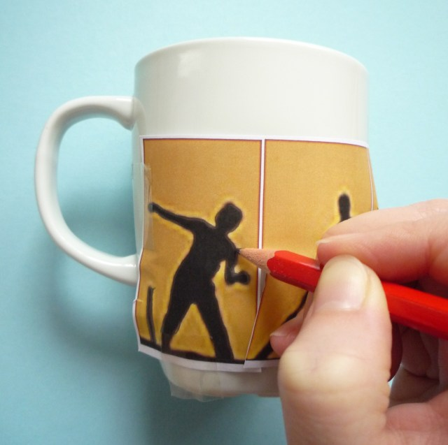 decorating mugs tracing image
