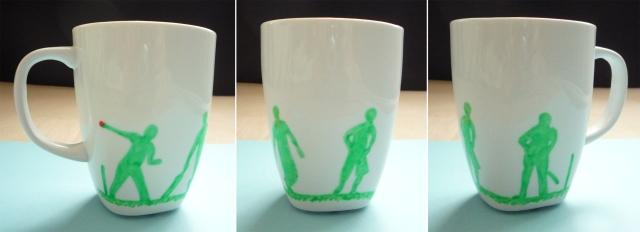 hand decorated cricket mug