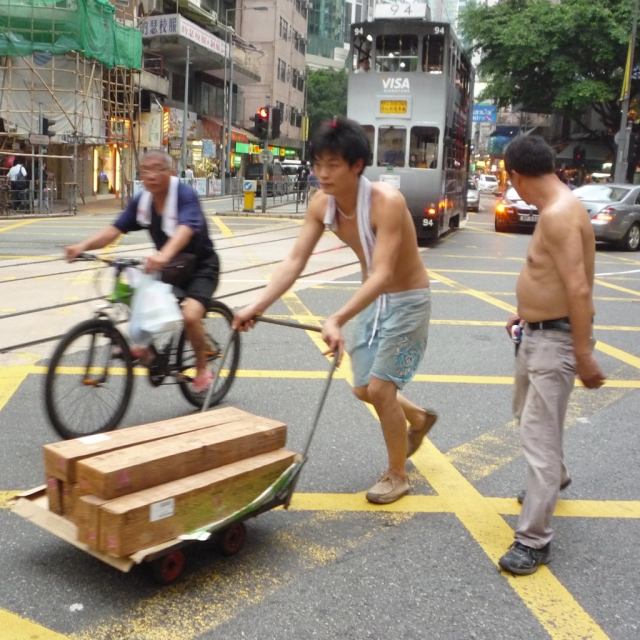 Hong Kong cart deliveries