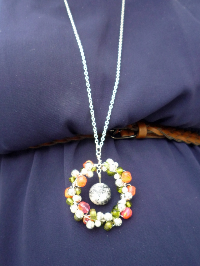 large cluster bead pendant
