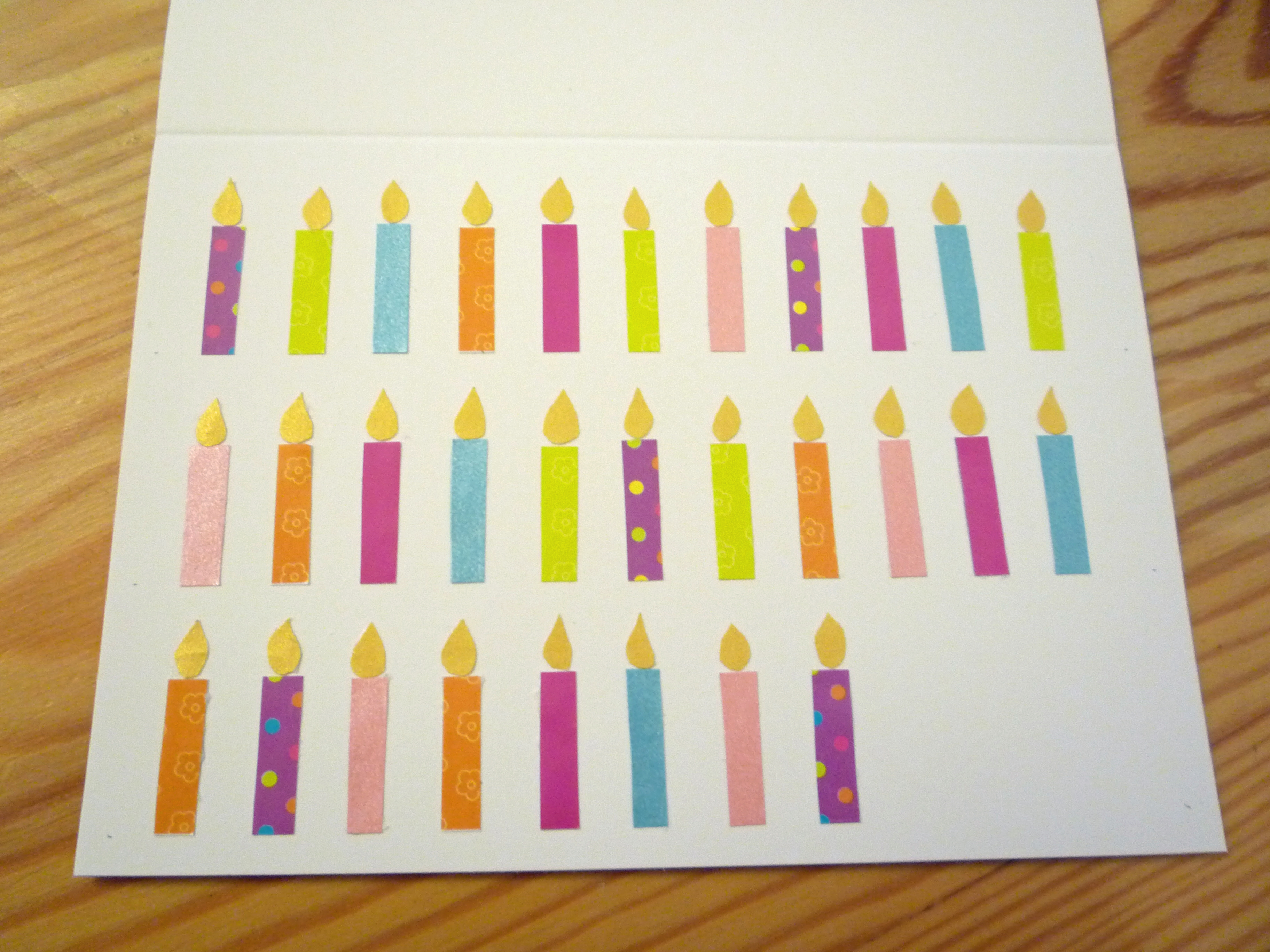 Handmade card tutorial birthday candles – Handmade 30th Birthday Cards