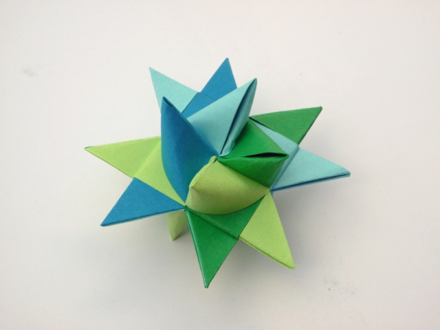 Finished froebel star