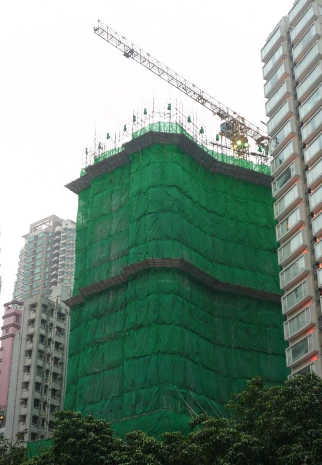 Hong Kong bamboo scaffolding