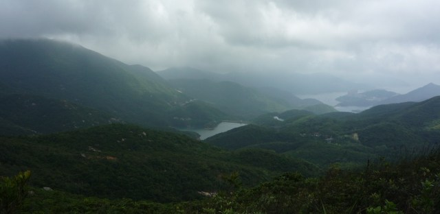 Looking east to Tai Tam Reservoir