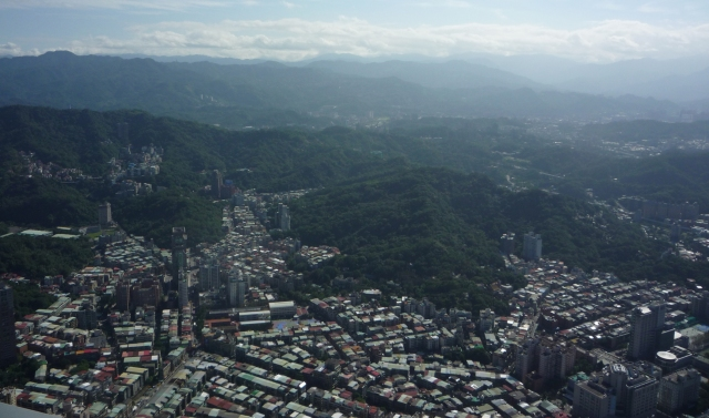Hills from Taipei 101