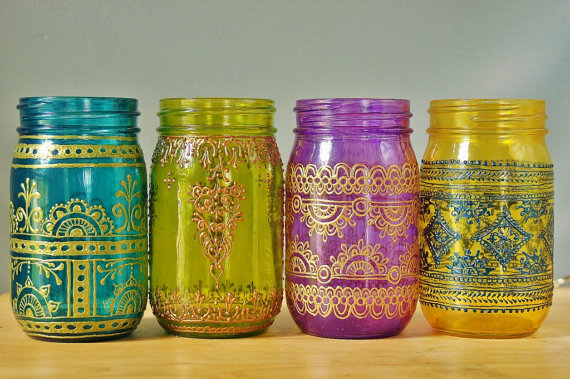 hand decorated jam jar luminaries the little koo blog
