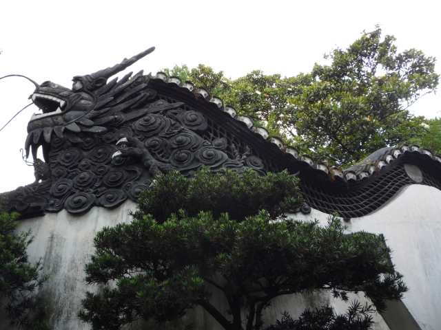 Yuyuan Garden dragon wall