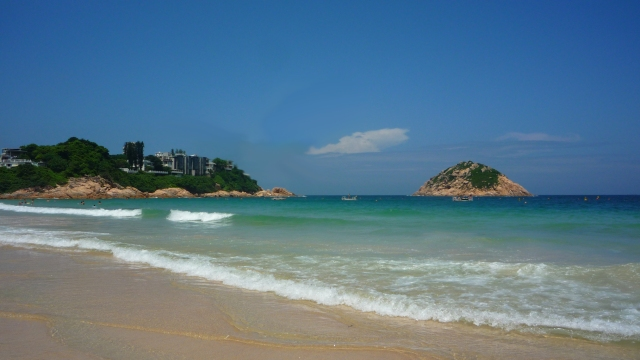 Shek O beach and headland