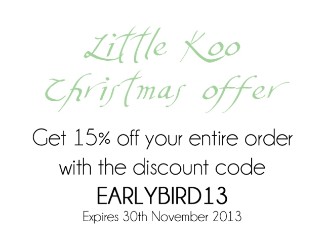 Little Koo early bird discount