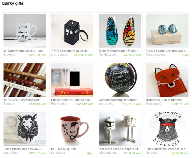 Quirky gifts treasury