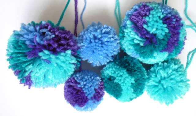 Woolly pompoms galore