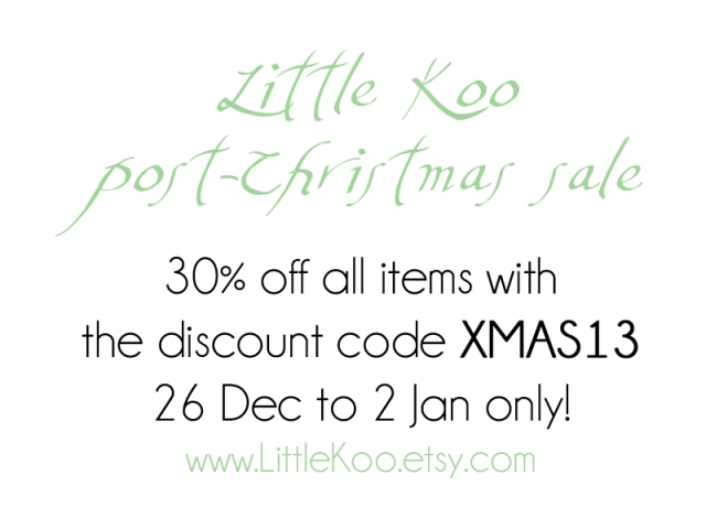 Little Koo post-Christmas sale
