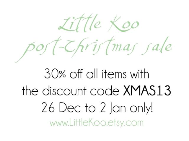 Little Koo post-Christmas sale