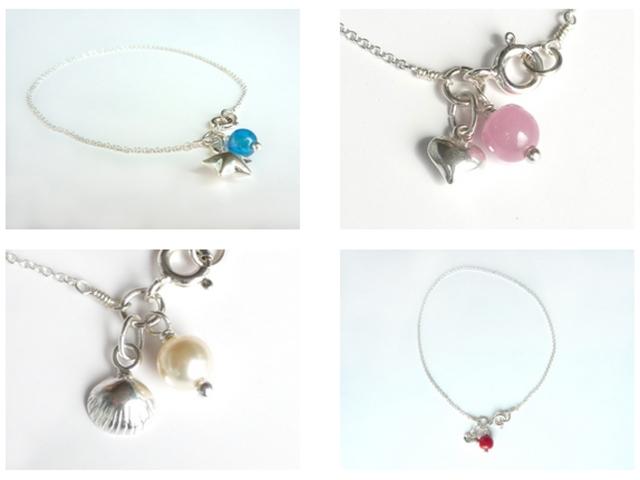 Little Koo sterling silver charm bracelets
