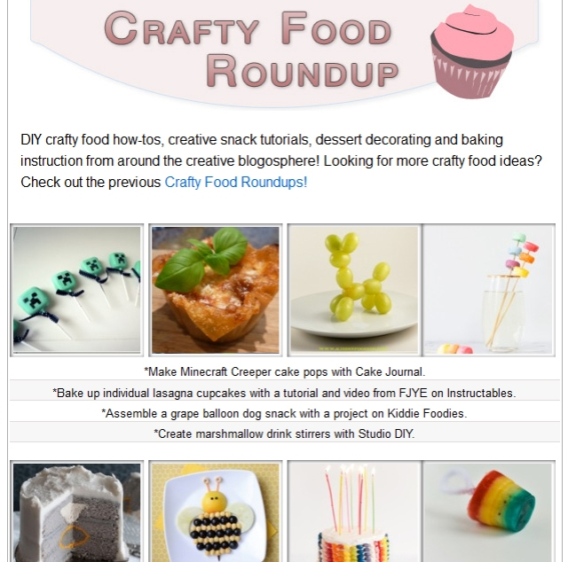 One Pretty Thing Crafty Food Roundup