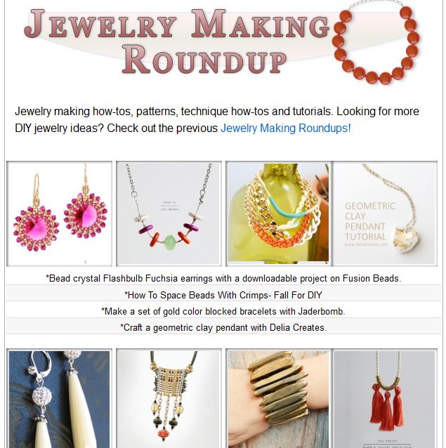 One Pretty Thing Jewelry Making Roundup