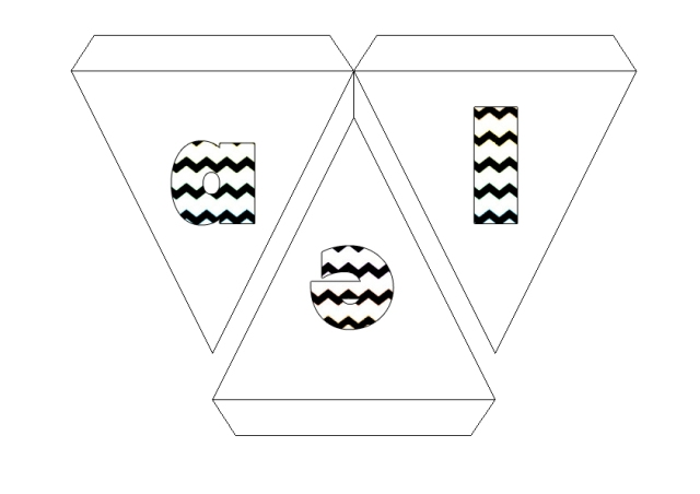 bunting letters design