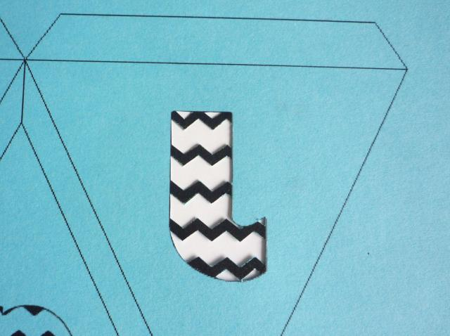 cut out patterned letters