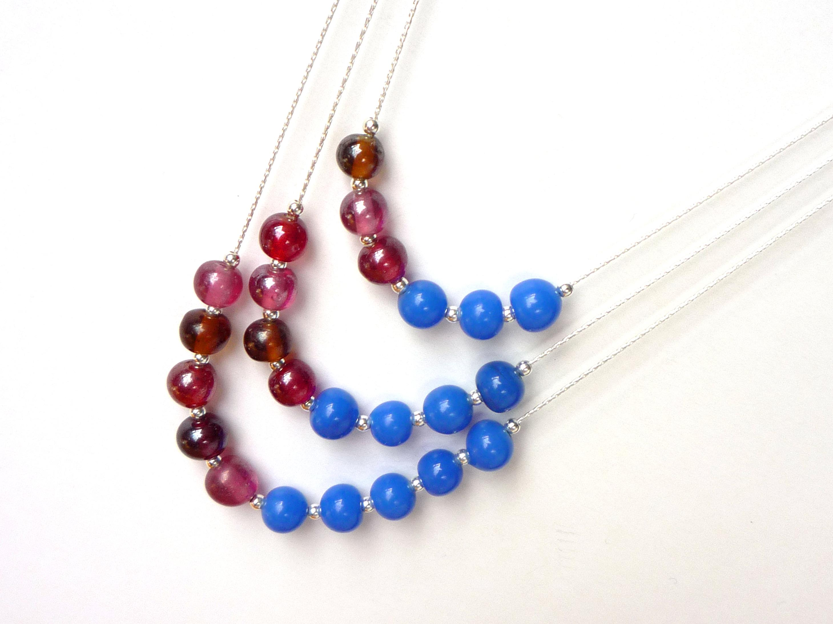 3 layer beaded necklaces | the Little Koo blog