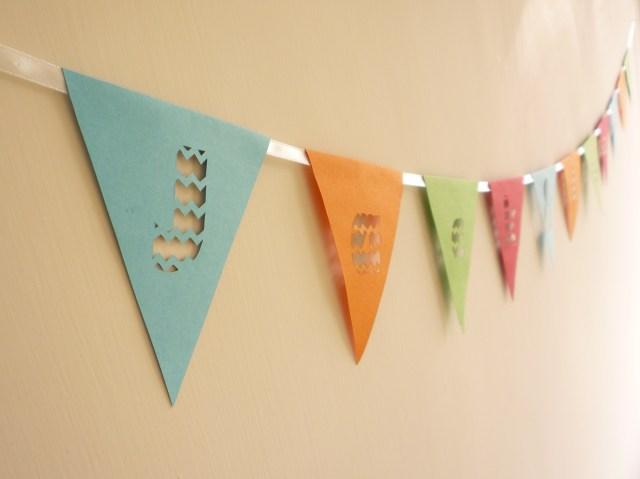 papercut triangles