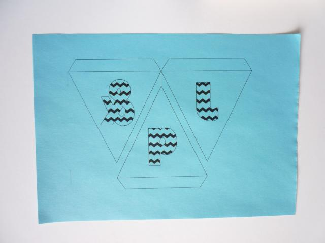 printed bunting letters