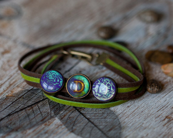 Wrap bracelet with initial - Dariami