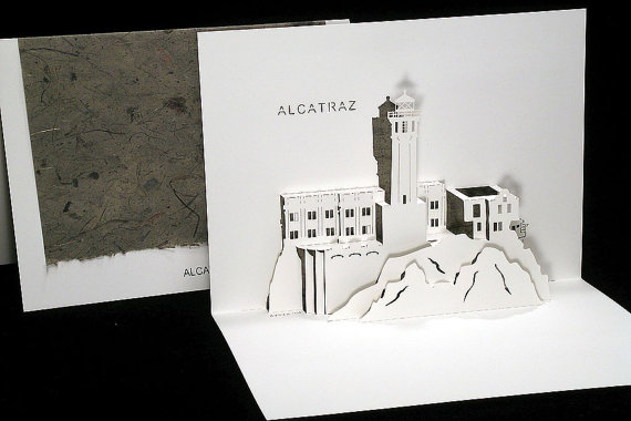 Box of 3 Alcatraz pop up cards - Live Your Dream Designs