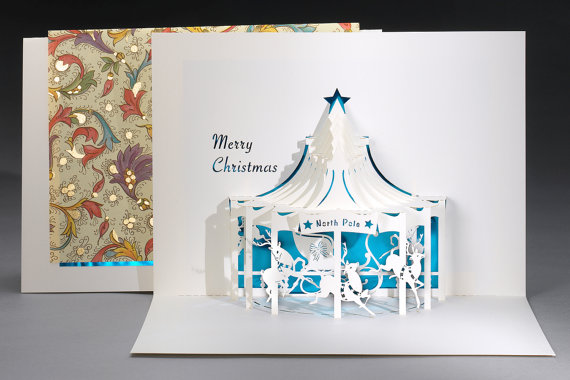 Christmas Carousel pop up card - Live Your Dream Designs