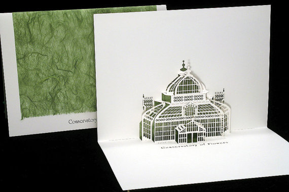Conservatory of Flowers pop-up card - Live Your Dreams Designs
