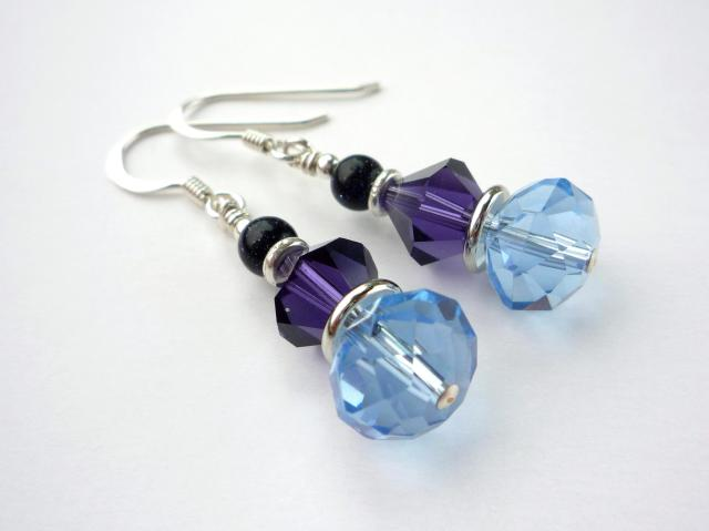 Little Koo - Blue crystal earrings